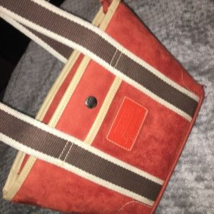 Coach leatherwear authentic suede tangerine bag
